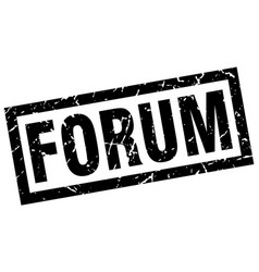 Square grunge black forum stamp vector