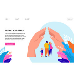 Stay at home protect your family quarantine area vector