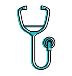 Stethoscope doctor tool vector