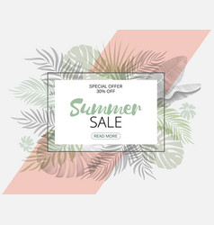 Summer sale trendy tropical design hand draw vector