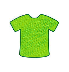 t-shirt sign lemon scribble icon on white vector image vector image