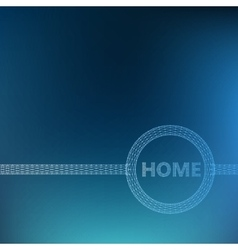 The inscription - Home Molecular lattice vector image