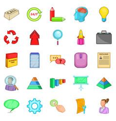 treasury icons set cartoon style vector image