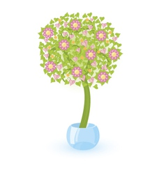tree tree with pink flowers vector image