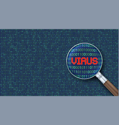 virus detected alert message scanning and vector image