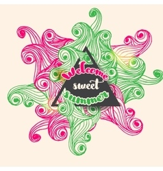 welcome sweet summer typographic bright vector image