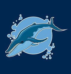 Whale sticker vector