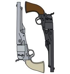wild west revolvers vector image