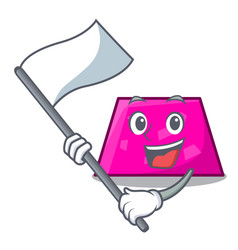 With flag trapezoid mascot cartoon style vector
