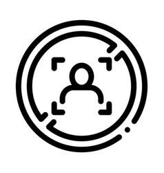 woman refusal mark icon outline vector image