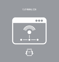 working network - flat minimal icon vector image