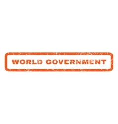 World Government Rubber Stamp vector