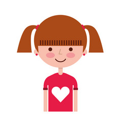 young girl avatar character vector image