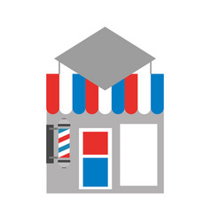 barbershop building front icon vector image