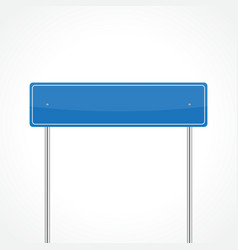 Blue traffic sign vector image vector image
