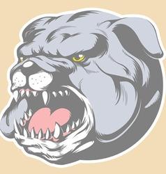 Bull dog head cartoon vector