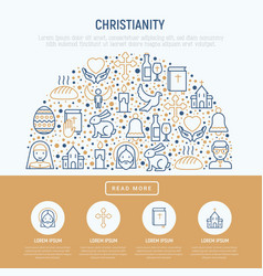 christianity concept in half circle vector image