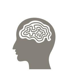 Head a brain vector image