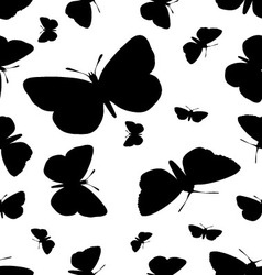 Seamless pattern of butterflies vector image vector image
