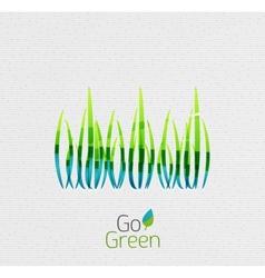 Green grass nature concept vector image
