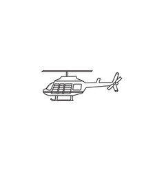 helicopter icon transport aircraft symbol vector image