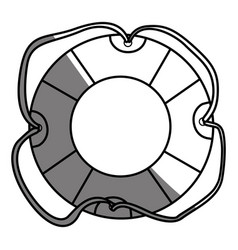 monochrome silhouette of flotation hoop with vector image