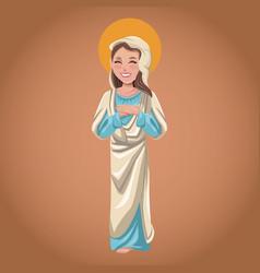 Virgin mary spiritual religious christian vector