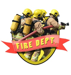 Fire Department vector image vector image