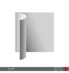 Folded Sheet vector image