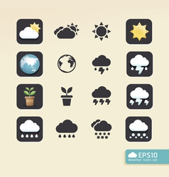 Modern weather color Design vector image