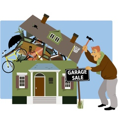 Time for a garage sale vector image vector image