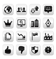Web internet buttons set - vector image vector image