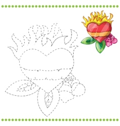 Connect the dots and coloring page vector image