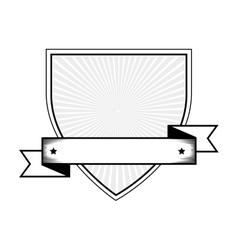 emblem with ribbon icon vector image