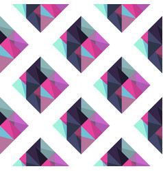 geometric pattern with rombus vector image vector image