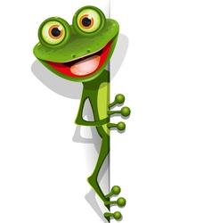 jolly green frog vector image vector image