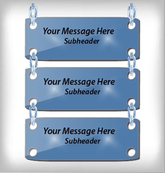 3 hanging signs vector