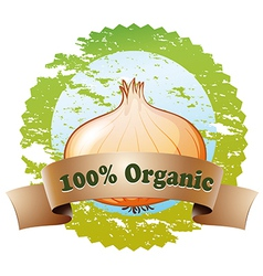 A pure organic label vector
