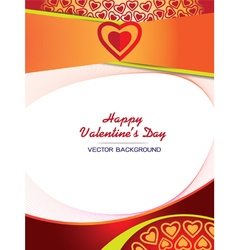 abstract background Hearts Valentine Card vector image