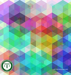 abstract hexagon colorful background vector image