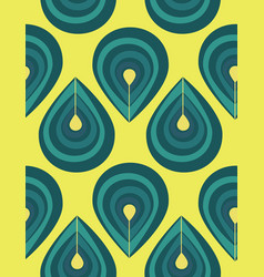 Abstract seamless pattern with blue drop elements vector