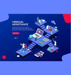 Assistance concept isometric vector