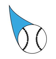 baseball ball design vector image