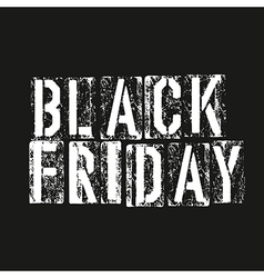 Black friday Advertising design template vector image