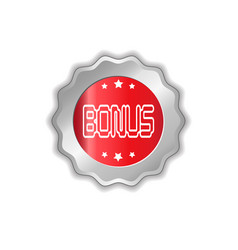bonus star silver medal icon isolated sticker vector image
