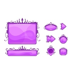 Cartoon abstract game assets set vector image