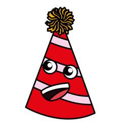cartoon party hat vector image