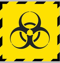 Caution biohazard sign biological threat alert vector