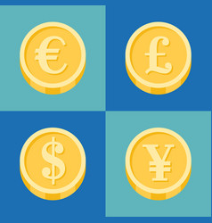 coin icons set vector image
