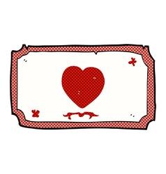 Comic cartoon love heart frame vector